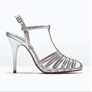 Zara Basic Collection Metallic Heel